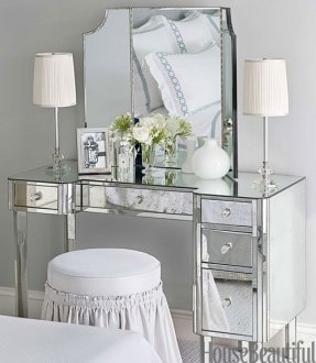 His and Hers Bathroom Decor New Vanity Dressing Table with Mirror and Lights Foter