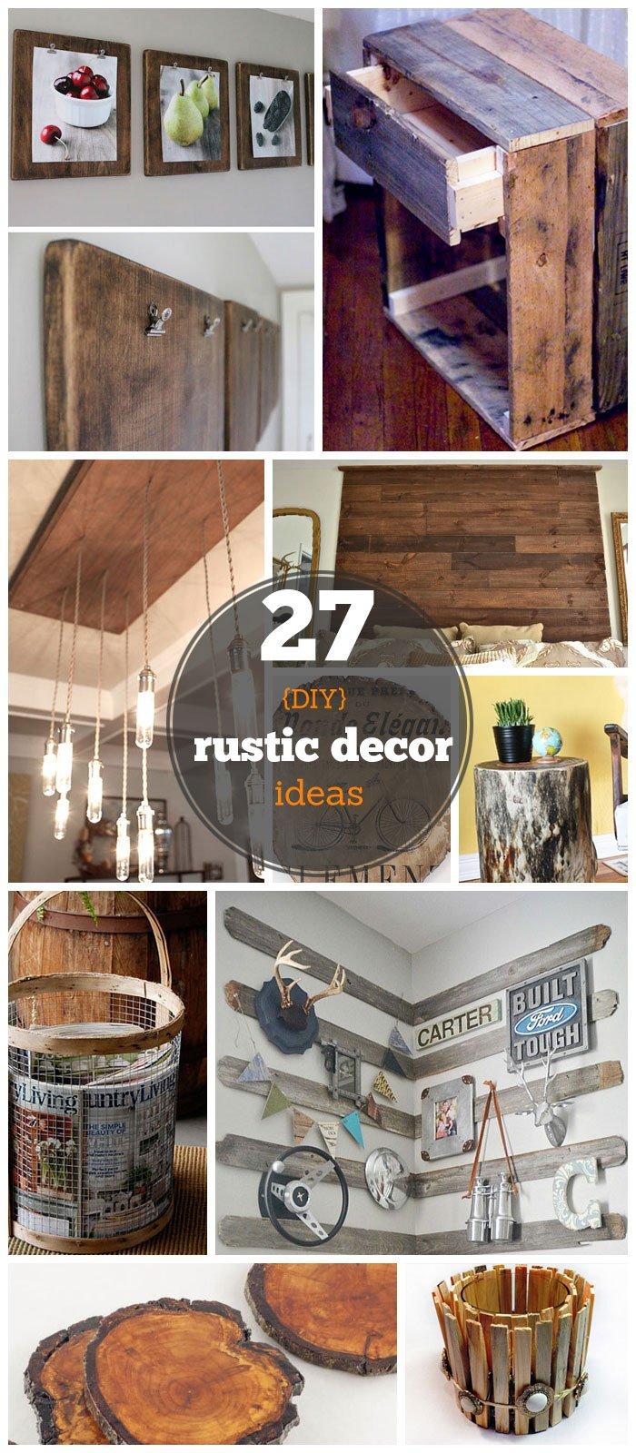 Home Decor On A Budget Elegant 27 Diy Rustic Decor Ideas for the Home