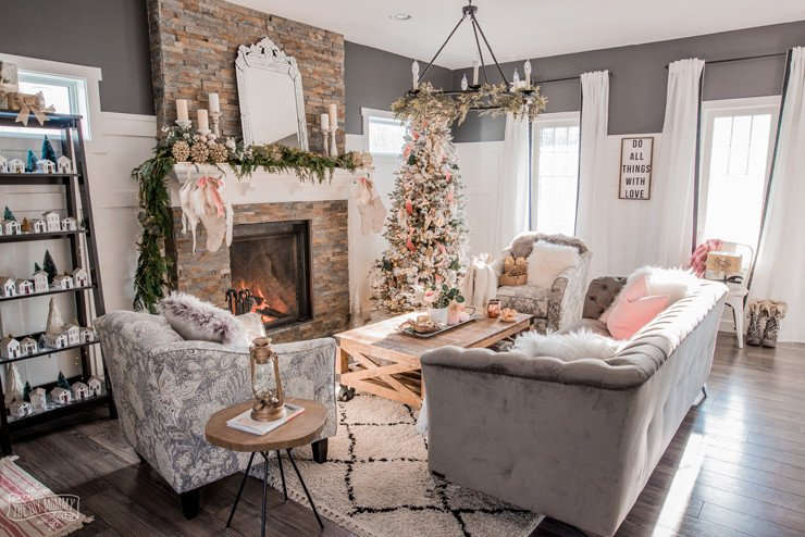 Home Decor Pictures Living Room Beautiful Romantic Christmas Living Room & the Christmas Canadian Bloggers Home tour Hop – the Diy Mommy