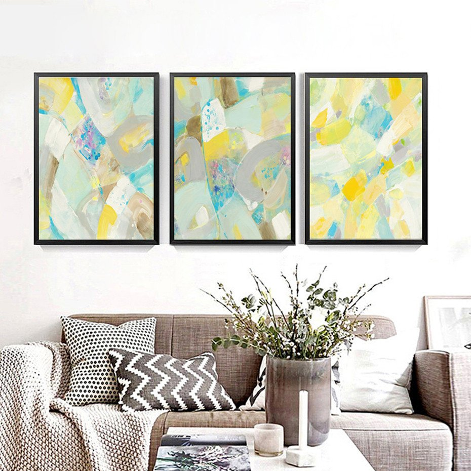 Home Interior Pictures Wall Decor Awesome Modern Abstract Multi Colors Canvas Painting Poster Prints Wall Art nordic for Fice