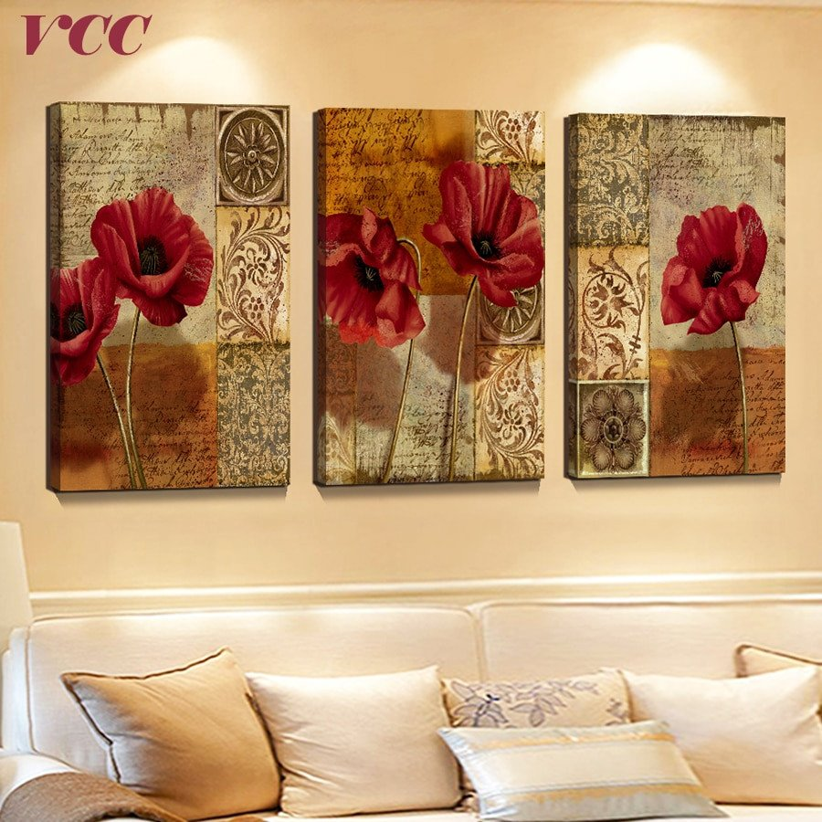 Home Interior Pictures Wall Decor Fresh 3 Piece Canvas Art Flowers Paintings the Wall Wall Art Canvas Painting Canvas Prints Wall
