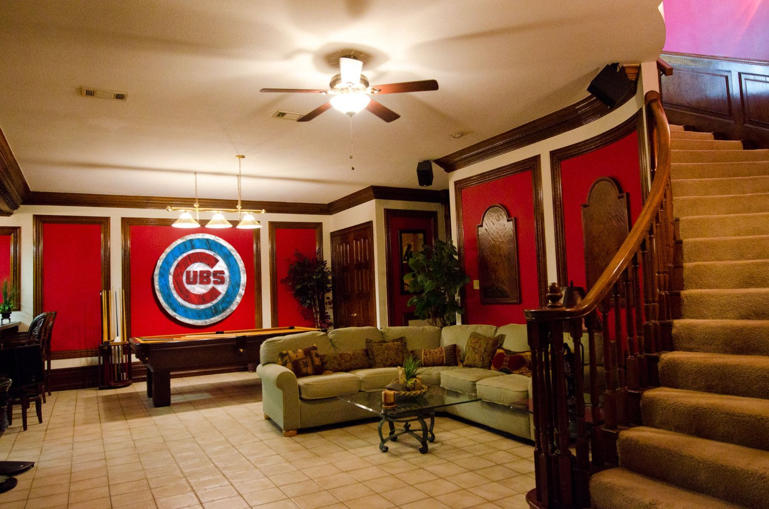 Home Interior Pictures Wall Decor Luxury Chicago Cubs Handmade Distressed Wood Sign Vintage Art Weathered Recycled Baseball Home
