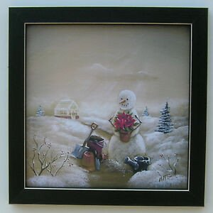 Home Interior Pictures Wall Decor Luxury Snowmen Country Framed Picture Print Art for Interior Home Decor 12x12