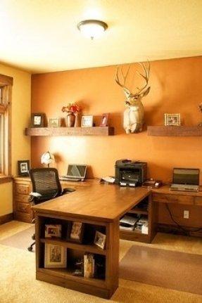 Home Office Decor Ideas Pictures Elegant Wood L Shaped Desk Foter
