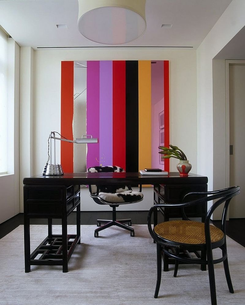 Home Office Wall Decor Ideas Lovely 10 Striped Home Fice Accent Wall Ideas Inspirations