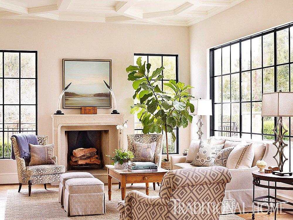 Homey Traditional Living Room Elegant Georgia Home with Casual Elegance