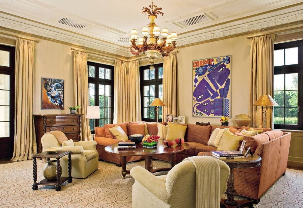 Homey Traditional Living Room New Traditional Living Room by Marjorie Shushan by Architectural Digest