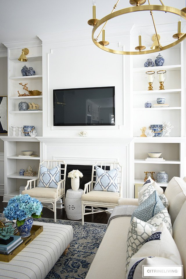 How to Decor Living Room Best Of How to Decorate Bookshelves for Spring Citrineliving
