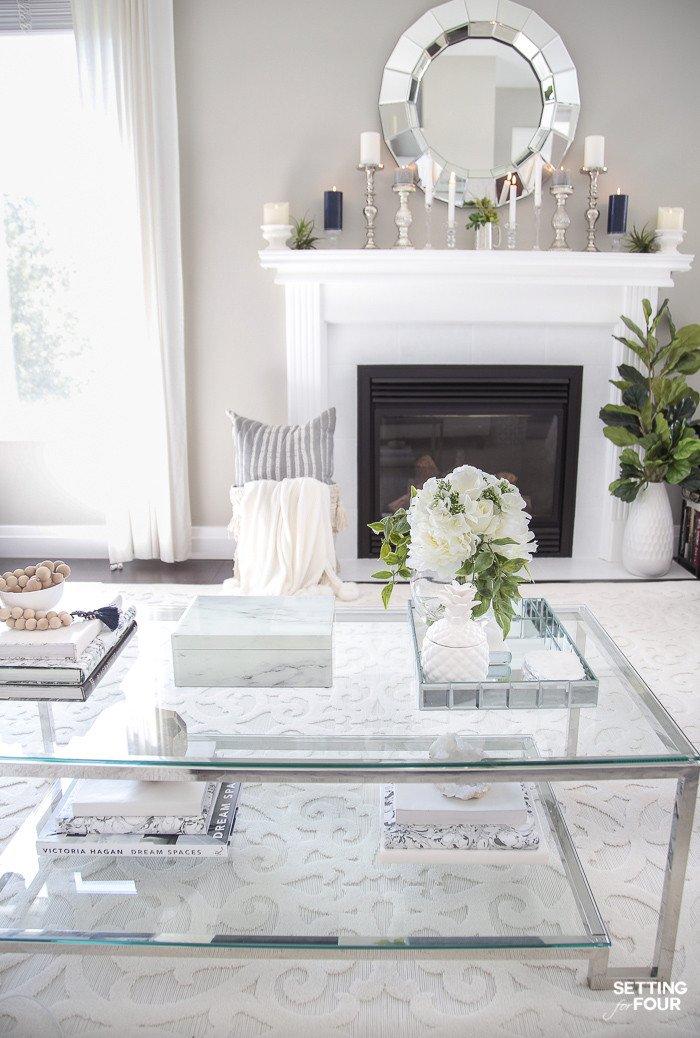 Ideas for Fireplace Mantel Decor Beautiful 5 Elegant Summer Mantel Decor Ideas Setting for Four