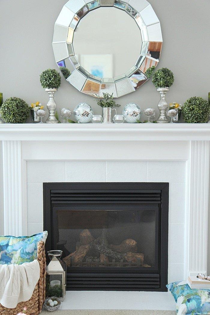 Ideas for Fireplace Mantel Decor Elegant Spring Mantel Decorating Ideas Setting for Four