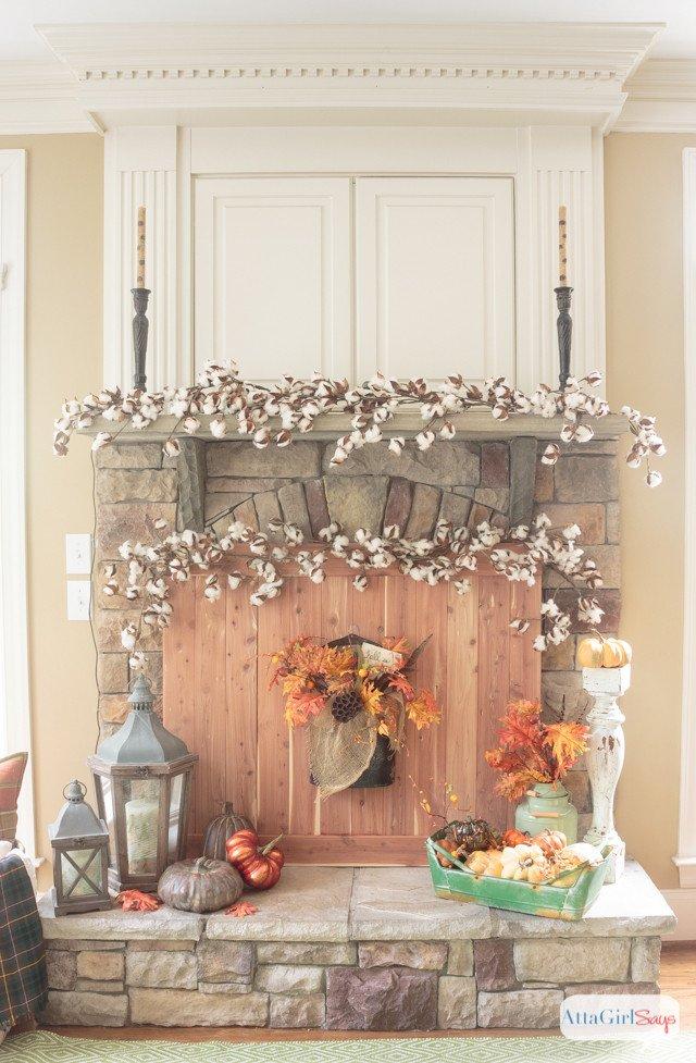 Ideas for Fireplace Mantel Decor Inspirational Fall Fireplace Mantel Decorating Ideas atta Girl Says