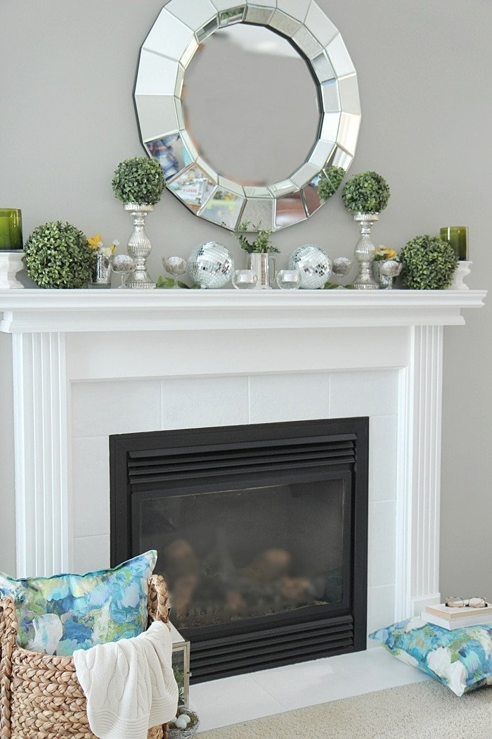 Ideas for Fireplace Mantel Decor Inspirational Spring Mantel Decorating Ideas Setting for Four