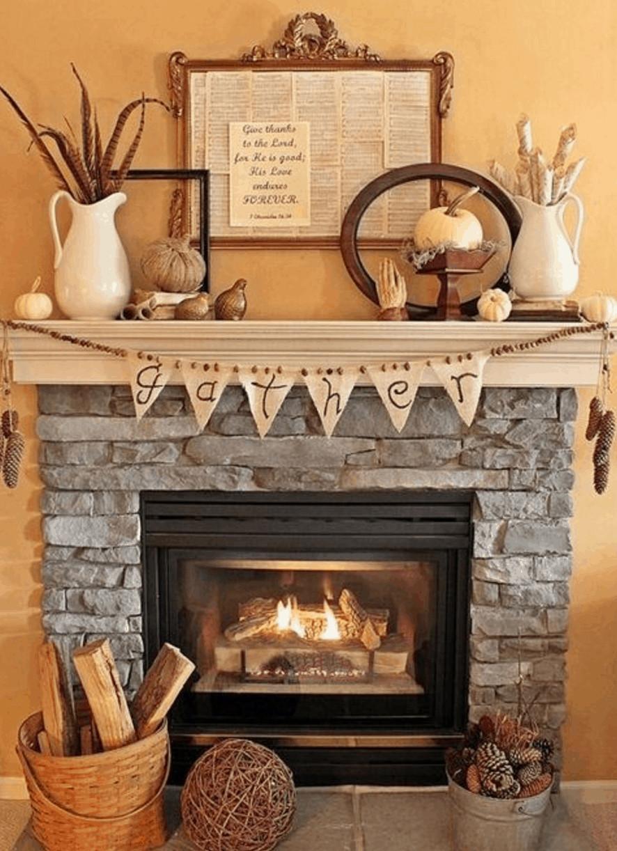 Ideas for Fireplace Mantel Decor Unique 15 Fall Decor Ideas for Your Fireplace Mantle