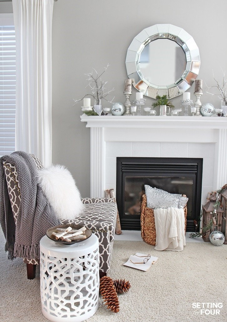 Ideas for Living Room Decor Fresh Winter Mantel Decorating Ideas Setting for Four