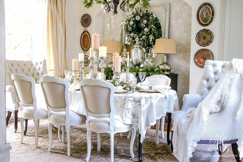 Images Of Dining Room Decor Beautiful Elegant White and Gold Christmas Dining Room and Table Scape
