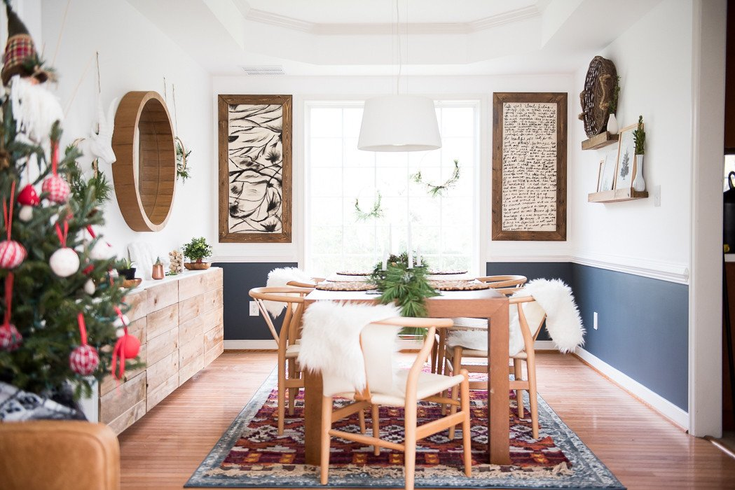 Images Of Dining Room Decor Beautiful Simple Dining Room Christmas Decor Place Of My Taste