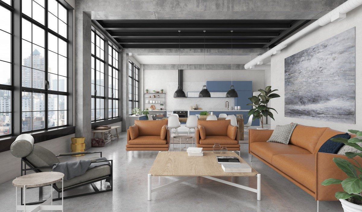 Industrial Contemporary Living Room Awesome Industrial Style Living Room Design the Essential Guide