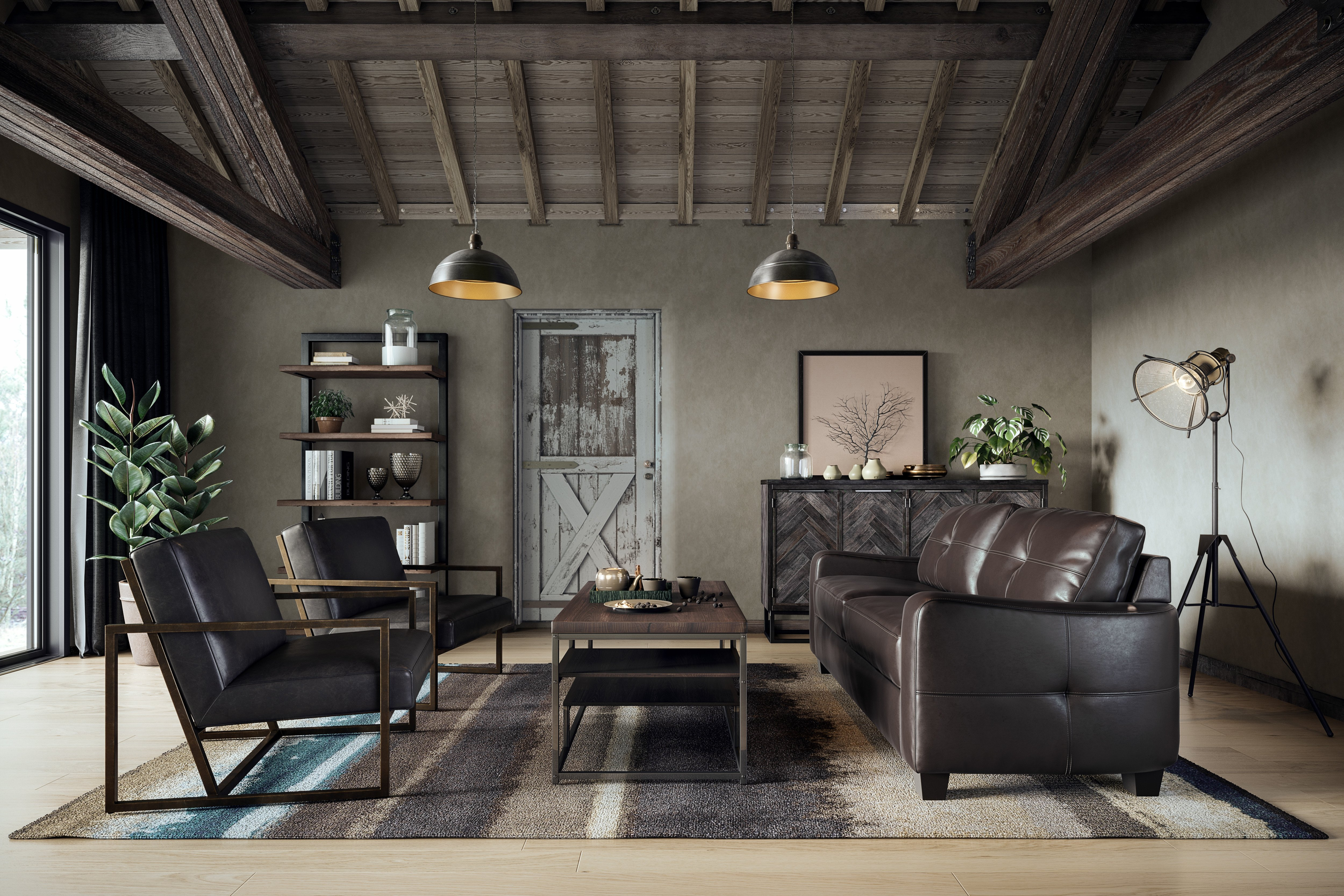Industrial Contemporary Living Room Fresh Elevated Industrial Living Room Casaza