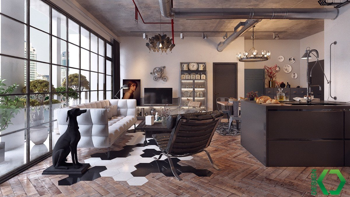 Industrial Contemporary Living Room Unique Join the Industrial Loft Revolution