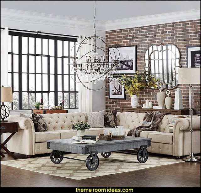 Industrial Modern Living Room Decorating Ideas Elegant Decorating theme Bedrooms Maries Manor Industrial
