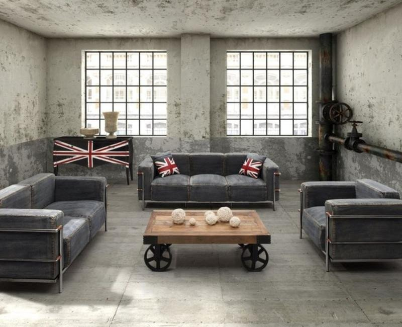 Industrial Modern Living Room Decorating Ideas Unique 15 Stunning Industrial Living Room Designs Rilane