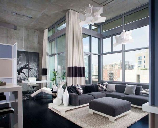 Industrial Modern Living Room Decorating Ideas Unique Chic Urban Apartments
