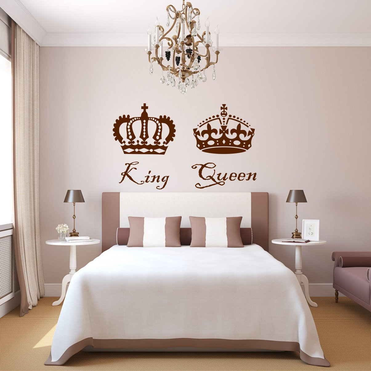 King and Queen Bedroom Decor Beautiful King and Queen Decal King and Queen Decor King and Queen Queen King King and Queen Art