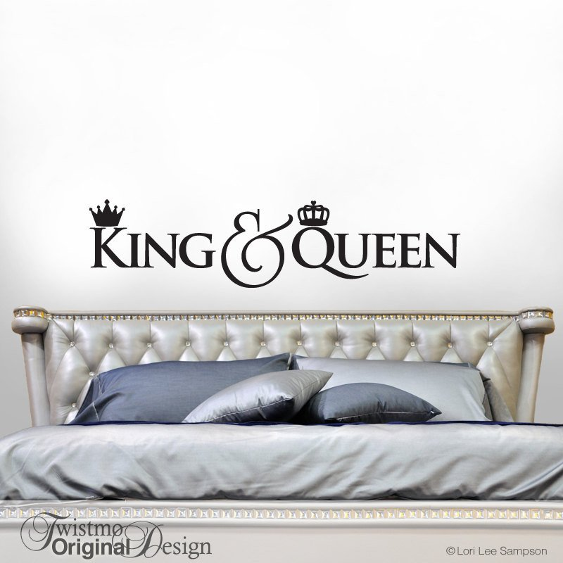 King and Queen Bedroom Decor Fresh King and Queen Crown Decor Bedroom Decor Wall Decal Gift for