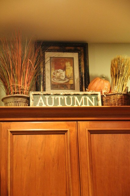 Kitchen Cabinet top Decor Ideas Best Of Upper Kitchen Cabinets Decorated for Fall Traditional Kitchen Seattle