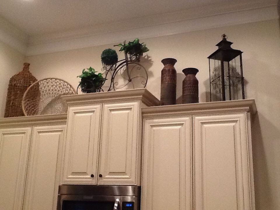 Kitchen Cabinet top Decor Ideas Inspirational Decorating Over Kitchen Cabinets Our Home Pinterest