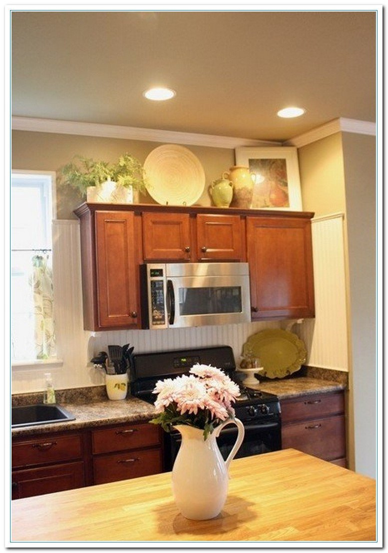 Kitchen Decor for Above Cabinets Inspirational 5 Charming Ideas for Kitchen Cabinet Decor
