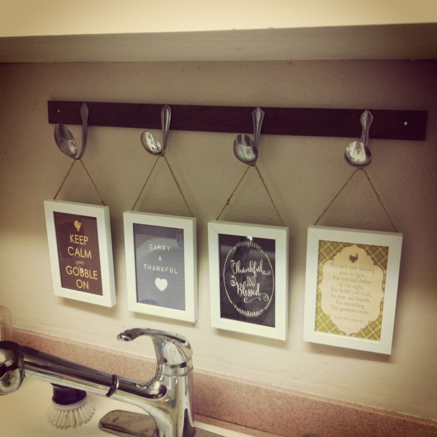 Kitchen Wall Decor Ideas Diy Inspirational $10 Diy Kitchen Decor Project $1 Pine From Home Depot Stained 25 Cent Thrift Store Spoons