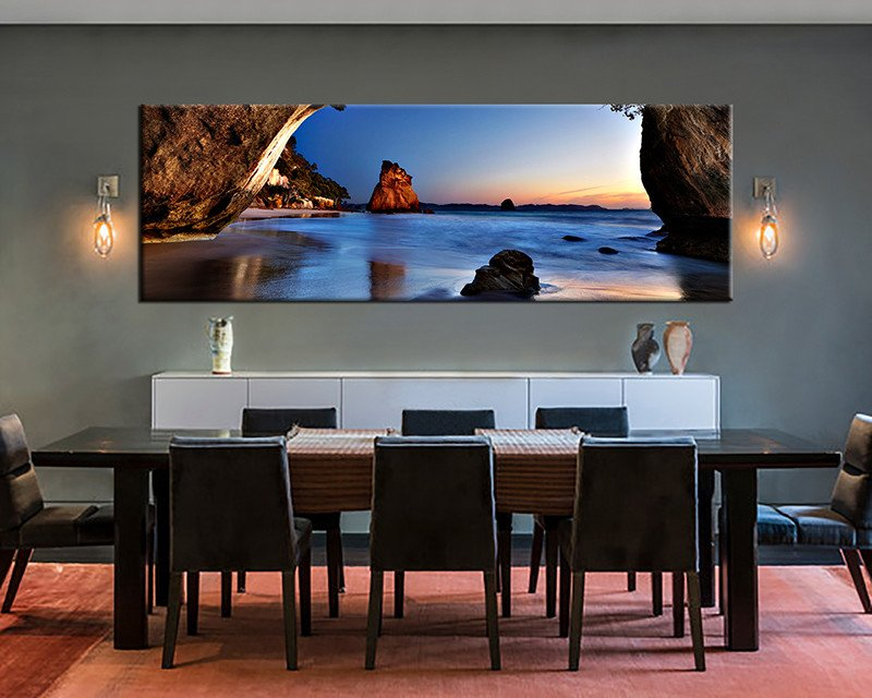 Large Dining Room Wall Decor Awesome 1 Piece Canvas Print Blue Ocean Wall Art