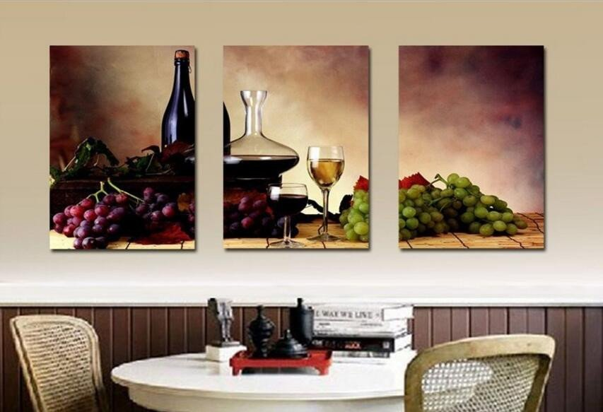 Large Dining Room Wall Decor Fresh Big Size Modern Dining Room Wall Decor Wine Fruit Kitchen Wall Art Picture Printed Still Life