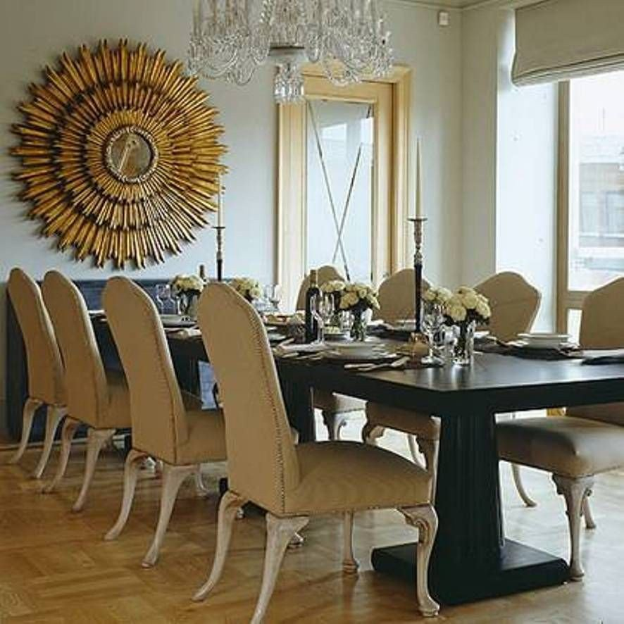 Large Dining Room Wall Decor Unique Home Design and Decor Decorative Sunburst Mirror Wall Decor Dining Room with Table and