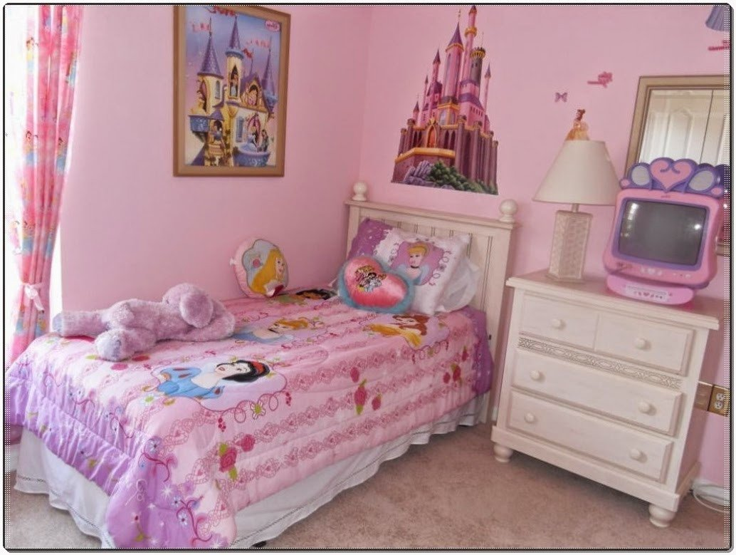 Little Girl Room Decor Ideas Awesome Kids Bedroom the Best Idea Little Girl Room with Princess Wallpaper theme and Polka Dot