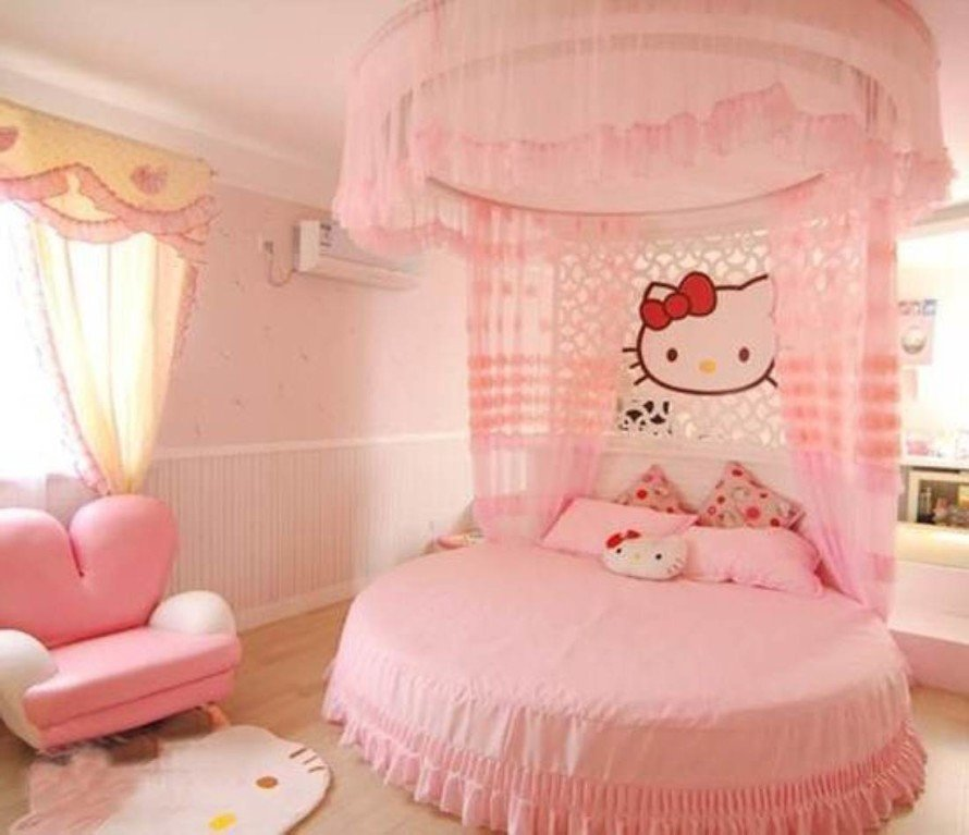 Little Girl Room Decor Ideas Luxury Hello Kitty Girls Room Designs