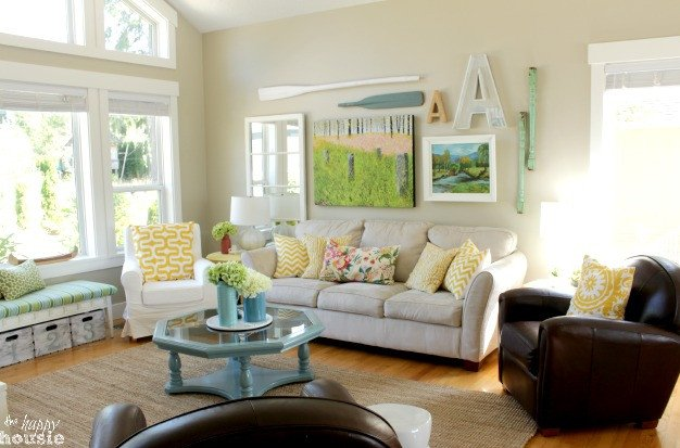Living Room Design for Summer Elegant Lake Cottage Late Summer Beachy Decor House tour
