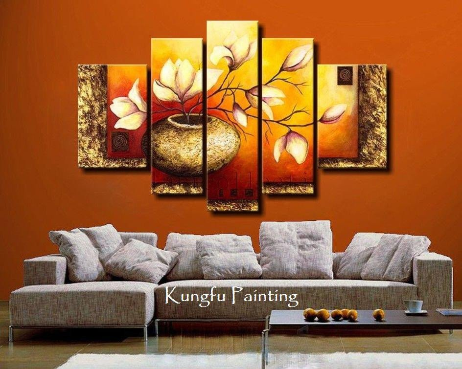 Living Room Wall Decor Pictures Awesome 2019 Hand Painted Unframed Abstract 5 Panel Canvas Art Living Room Wall Decor Painting