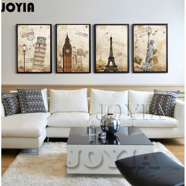 Living Room Wall Decor Pictures Beautiful Home Decor Vintage Paintings Canvas Prints World Famous Landmarks for Living Room Wall