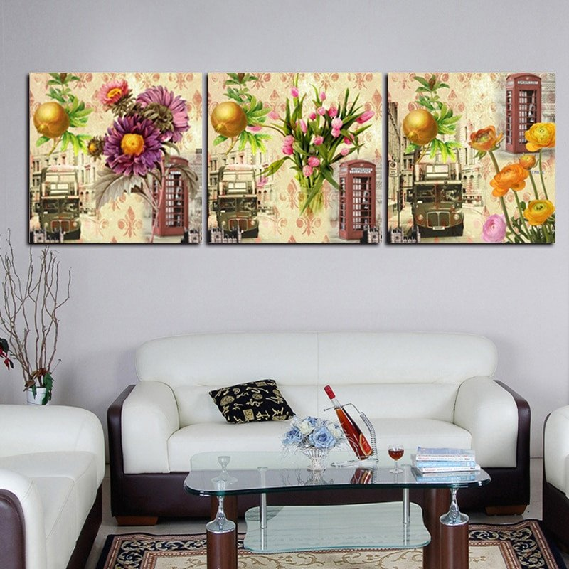 Living Room Wall Decor Pictures Best Of Vintage Print Canvas Painting Flower Wall for Living Room Canvas Picture Oil Painting