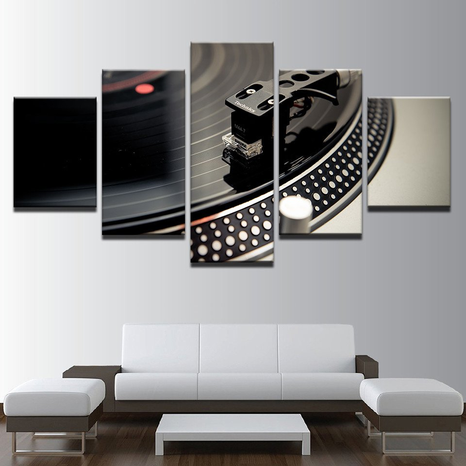 Living Room Wall Decor Pictures Elegant Hd Printed Living Room Wall Art Canvas Painting 5 Pieces Dj Music Instrument Turntables
