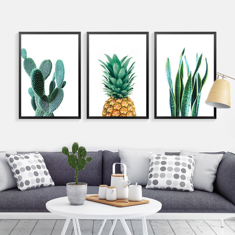 Living Room Wall Decor Pictures Inspirational Cactus Wall Art Canvas Painting Home Decor Wall Paintings Pineapple Wall for Living