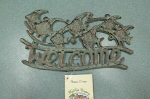 May Rich Company Home Decor Elegant Mayrich Co Home Decor Cast Iron Wel E Sign with Fish Brass Color New