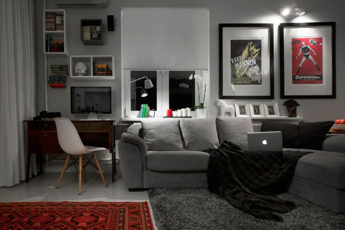 Mens Living Room Wall Decor Fresh Pact Bachelor Pad Captures All the Right Details In An Eclectic Design