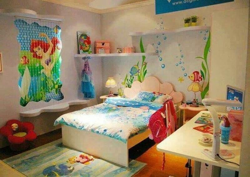 Mermaid Decor for Kids Room Inspirational 15 Dazzling Mermaid themed Bedroom Designs for Girls Rilane