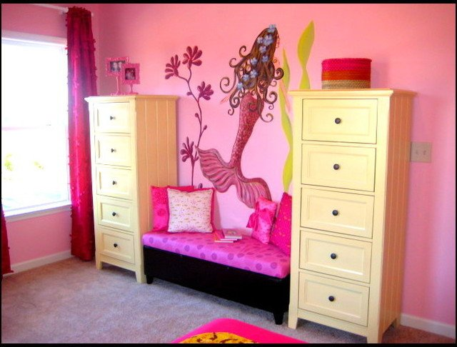 Mermaid Decor for Kids Room Lovely Mermaid Girl S Room Eclectic Kids atlanta by Modern Nest Interiors