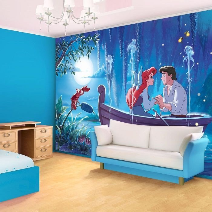 Mermaid Decor for Kids Room New Ariel the Little Mermaid Disney Character Giant Wall Mural by Homewallmurals