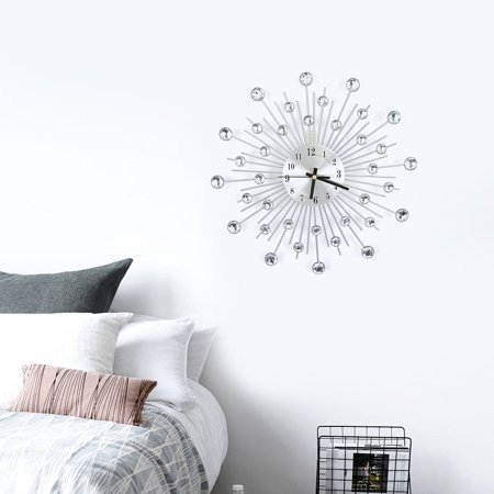 Metal Wall Decor for Bedroom Awesome Walfront Fashion Luxury Diamond Studded Metal Wall Clock Living Room Bedroom Decor Wall Clock