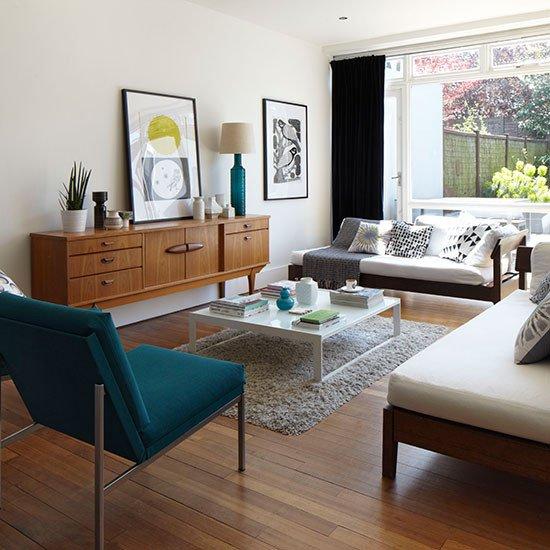 Mid Century Modern Living Room Decorating Ideas New Mid Century Style White Living Room Living Room Decorating